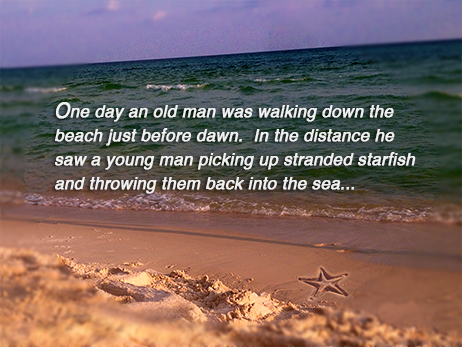 Starfish Poem Slide Image